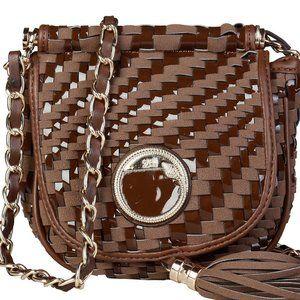 Cavalli Class Brown Crossbody Bag